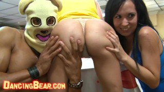 DANCING BEAR - Group Of Horny Hoes Taking Dick From Male Strippers