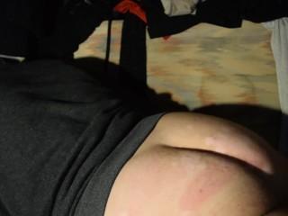 Hot guy with humping bed and masturbating...