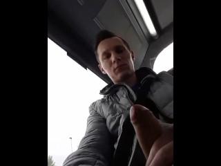 Polish scally handjob in bus...