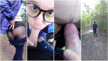 Quickie Outdoor and Cum in My Panties
