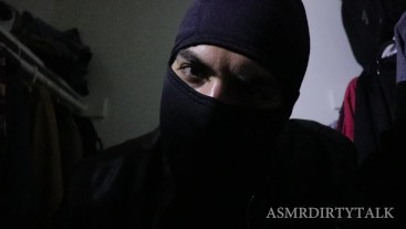 ASMR Male Domination - Burglar Role Play Ft. Ski Mask, Leather Gloves, Tape