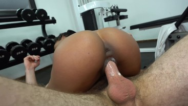 Giving Kira Noir a Creampie at the Gym
