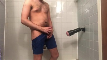 Drilling and eating my Fleshlight (shower version)