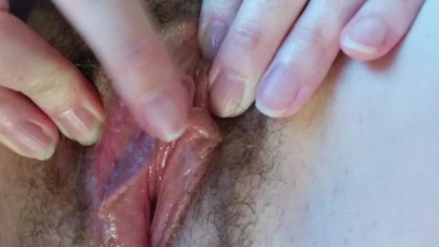 Swollen clit play - close-up 9