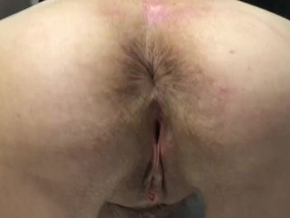 Removing plug from 60 year old wife milf...