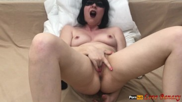 Fingering Masturbation with Intense Squirting Orgasm