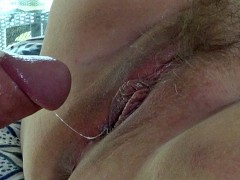 BBW wife gets her pussy pumped full, then vibrates her wet pussy to orgasm