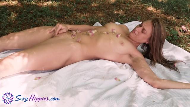 EcoSexual Masturbation With Japanese Mimosa Flowers - SexyHippies 12
