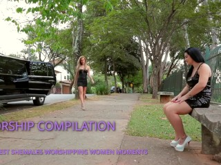 Shemales worshipping womens compilation...