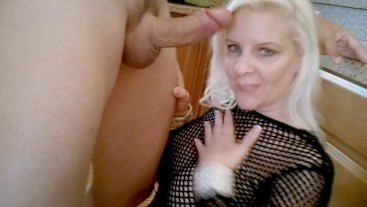 A Real Fan Pounds Veronica Vaughn then Slathers Her Face With Dripping Cum