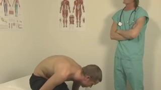 Young doctor relentlessly pounding his tight patient