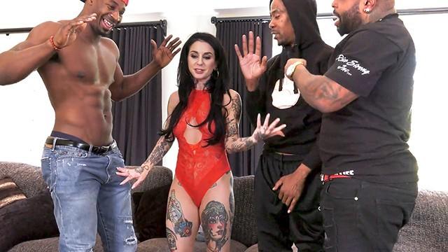 Tattoo Consultants Joanna Angel's Consultation Turns Into Anal Gangbang