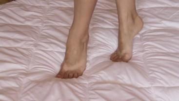 Beautiful legs and feet massage