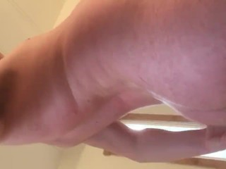 Male cumslut showing off his face after a...