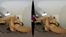 BUSTY BLONDE LU ELISSA BRINGS HER SEX TOYS INTO THE OFFICE