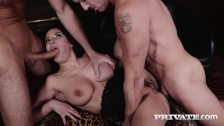 Anissa Kate takes two hard cocks at the same time