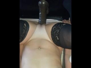 Sexy slut passionately needs  her huge 13 inch cock to cum