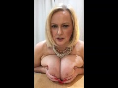 Annabel's jerk off instruction using my BIG tits