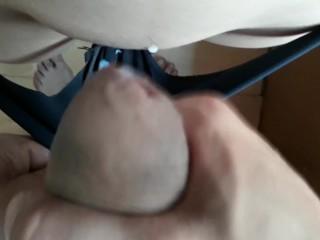 Younger sister got cum in panties