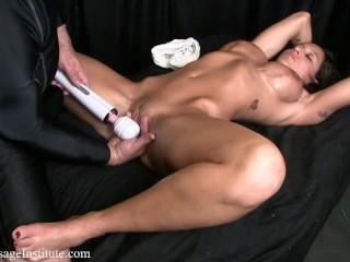 Fitness model hand job...