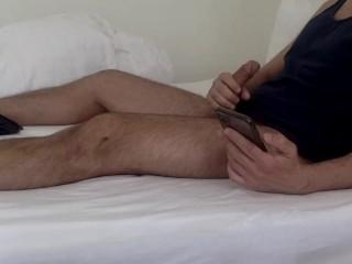 Morning jerk in bed watching pornhub...