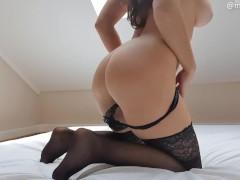 NEW porn girl ride big dildo with hairy pussy - Mysti Life