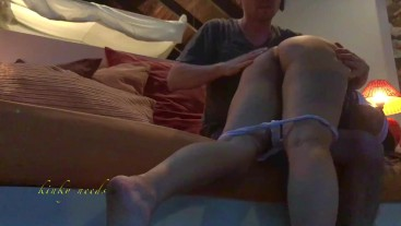 Asian school girl spanked and abused in all her holes by her stepdad