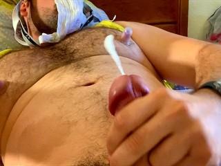 Daddy cumming from whiffing own sweaty jockstrap...