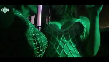 Lesbian sex in a nightclub