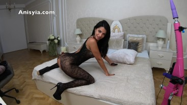 4k anisyia livejasmin bodystocking and high heels queen