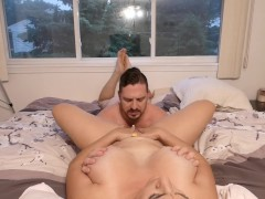 He Impregnates Me And Then Licks My Cummy Pussy Until I Cum On His Face!