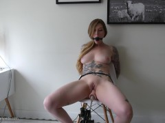 Bound Orgasm Torture - Tied Up, Ballgagged, and Squirting!