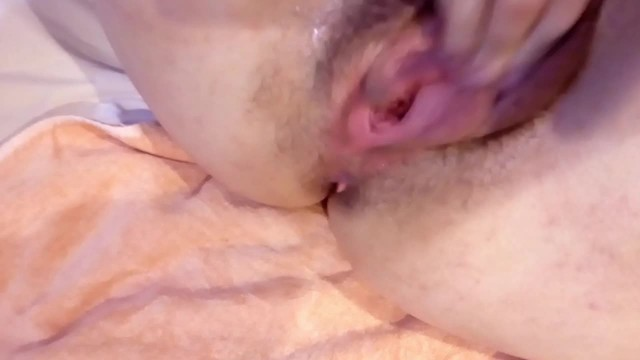 Close-up squirting POV with moans  Watch a pink pussy get wet very closely 45