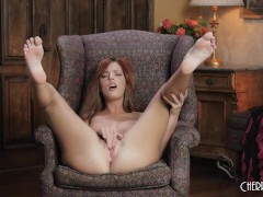 Redhead Scarlett Mae Works Her Wet Pussy In A Magnificent Solo Tease Scene