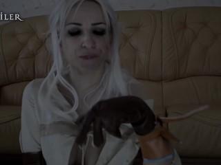 Ciri. Fucked by magic. KsuColt. Cosplay, Horse, DP, creampie, FuckMachine.