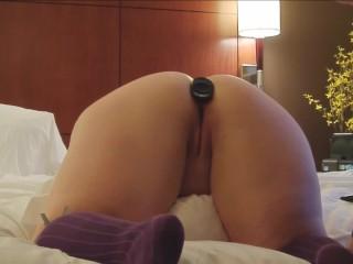 First anal training bri...