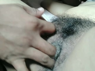 Pinay playing hairy pussy wet cum...