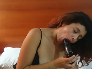 masturbation with black dildo 2