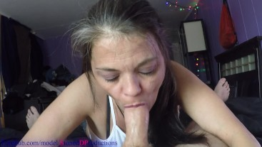 Neighbors Russian housewife loves to sneak around and suck my cock