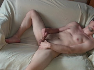 Young guy fingering for porn...