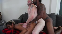 John Johnson & Lotus Lain's FIRST MMF Bisexual Threesome