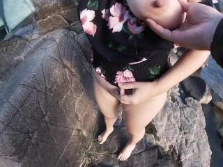 Topless hiking fuck...