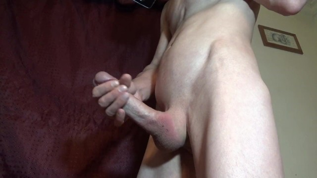 Jacking off standing front side and top view happy b-day cum shot vocal