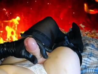 sissy crossdresser cums from pleasure ( TS tranny femboy shemale trap )