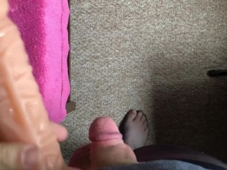 Sissy humiliated by small penis...