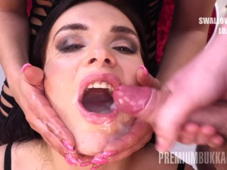 Premium Bukkake – Hannah Vivienne swallows 87 big mouthful cumshots