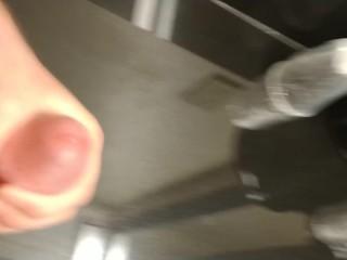 Cockdevotee Hotel Bathroom Wank
