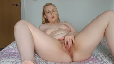Rubbing my natural hairy pussy fingering myself and cumming hard moaning