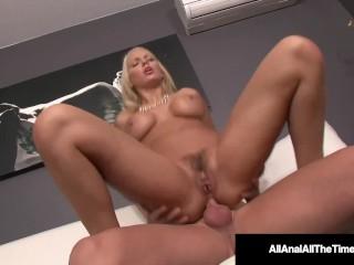 AllAnalAllTheTime – Tan Blonde Kenzie Taylor Farts Creampie!
