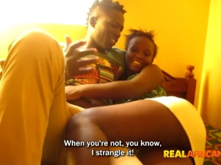 African couple first time...